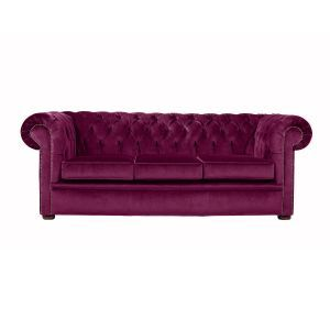 Chesterfield Velvet Collection 3 Seater Sofa in Purple