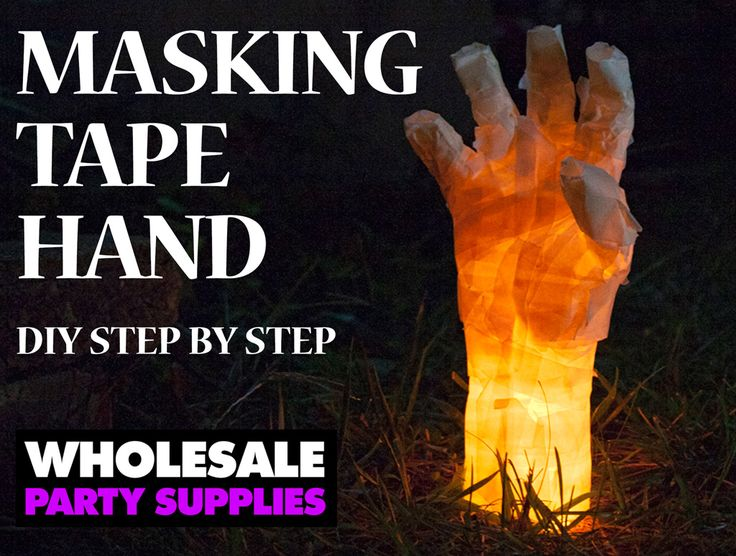 This creepy glow in the dark hand is the perfect DIY addition toadd to your Halloween decor. This project takes approximately 15-20 minutes. You can try wrapping your own hand, but it's defi…