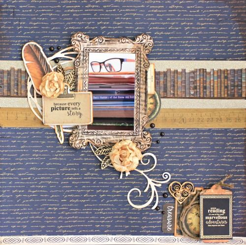 Kaisercraft Story Book Layout for March Challenge by Alicia McNamara