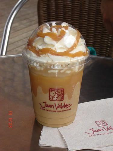 Quiero una malteada de café de Juan valdez....