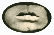 = MOUTH = 1993 TONED GELATIN SILVER PRINT 10 X14.5 CM