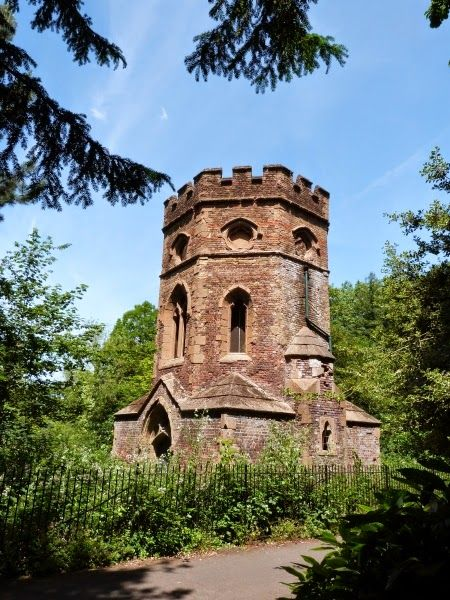 .Not a church, not a castle, but a Victorian boat house! It's at Gunnersbury Park, London. Standing on the edge of a lake that was once a clay pit,  it's built on the foundations of an old tile kiln.
