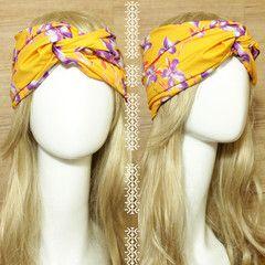 Sun & Orchid Turban Headband  idr 65,000 or $6.5  FREE ongkir seluruh Indonesia ✈️ shipping worldwide  LINE : reginagarde  shop online www.reginagarde.com