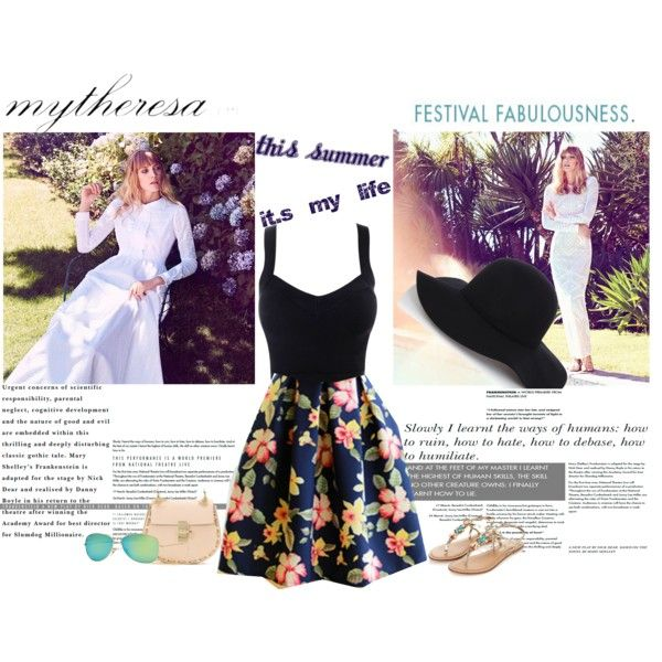 Let The Sunshine In With mytheresa.com: Contest Entry by catalinandrea on Polyvore featuring Monsoon, Chloé, Ray-Ban and Warehouse