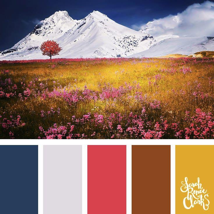 Цветовая гамма картинки с природой
