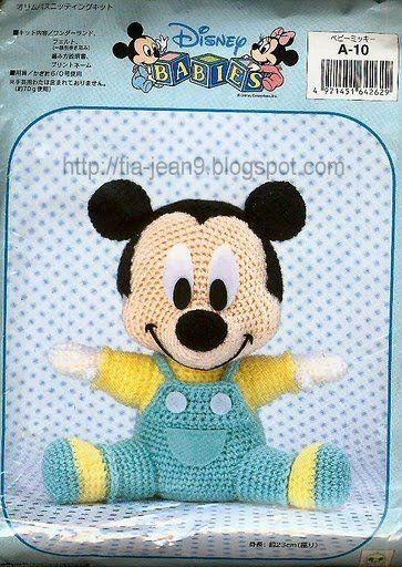 Las chorradikas de Laury: Patrón Mickey Mouse amigurumi