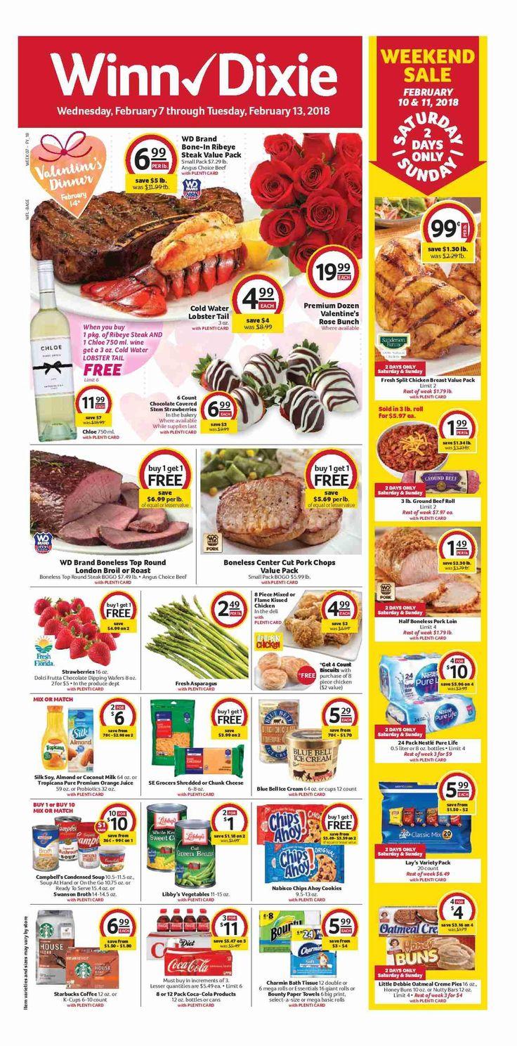 Winn Dixie Weekly Ad February 7 - 13, 2018 - http://www.olcatalog.com/grocery/winn-dixie-weekly-ad.html