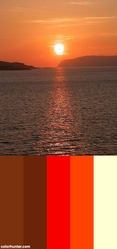 Sunset Color Scheme from colorhunter.com