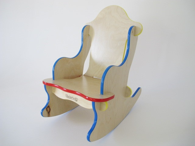 Child's rocking chair by Builtforkids on Etsy