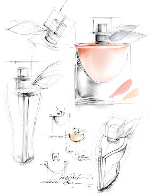 dessin parfum LA VIE EST BELLE-FLORENCE GENDRE(Perfume Bottle Sketch)