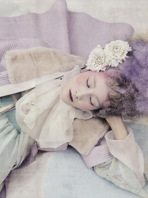 """Powdery Flower"" photographed by Koo Bon Chang for Vogue Korea January 2014"