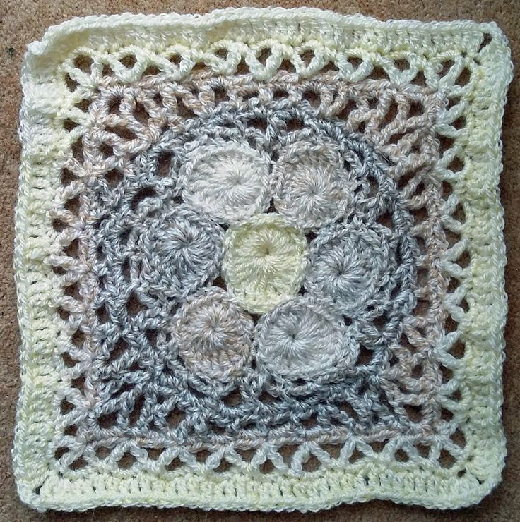 Kalevala Cal - Square 2 - -Bluebill's Nest - designed by Taina Tauschi - Crocheted Sept 2017