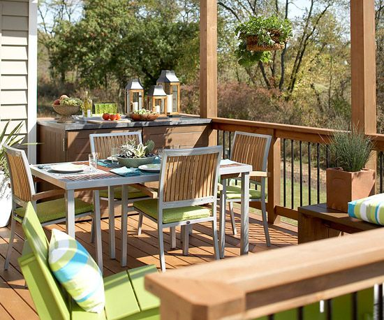 123 best images about outdoor spaces on pinterest patio for Decorated decks and patios