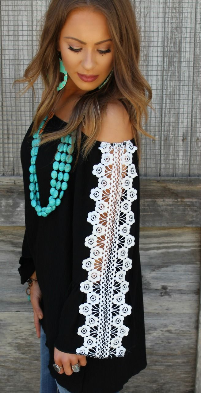 Code ASHLEYH10 gets you 10% off  Lovers Lane Black Crochet Top - The Lace Cactus