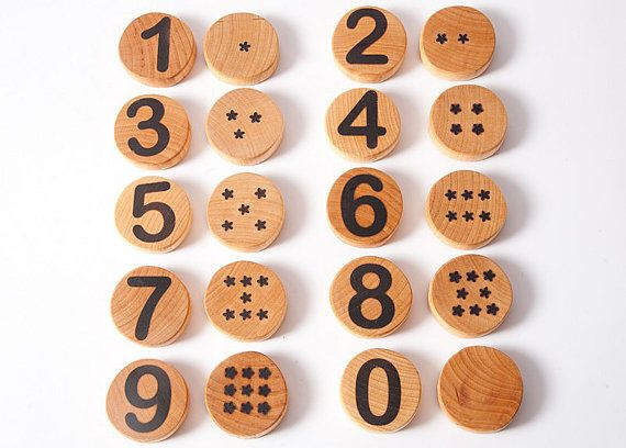 Wooden toy,  numbers,  eco friendly toy, number matching,  educational game, waldorf toy, wood toy, montessori
