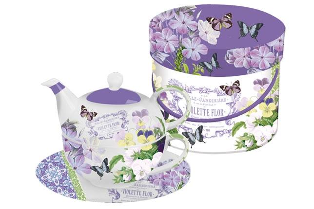 www.gifthaus.co.za Vintage Violets Tea 4 One