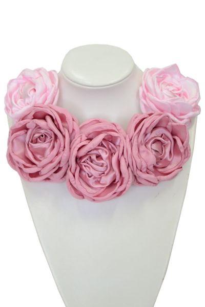 Kwiatowa kolia - model 08 - różowa
