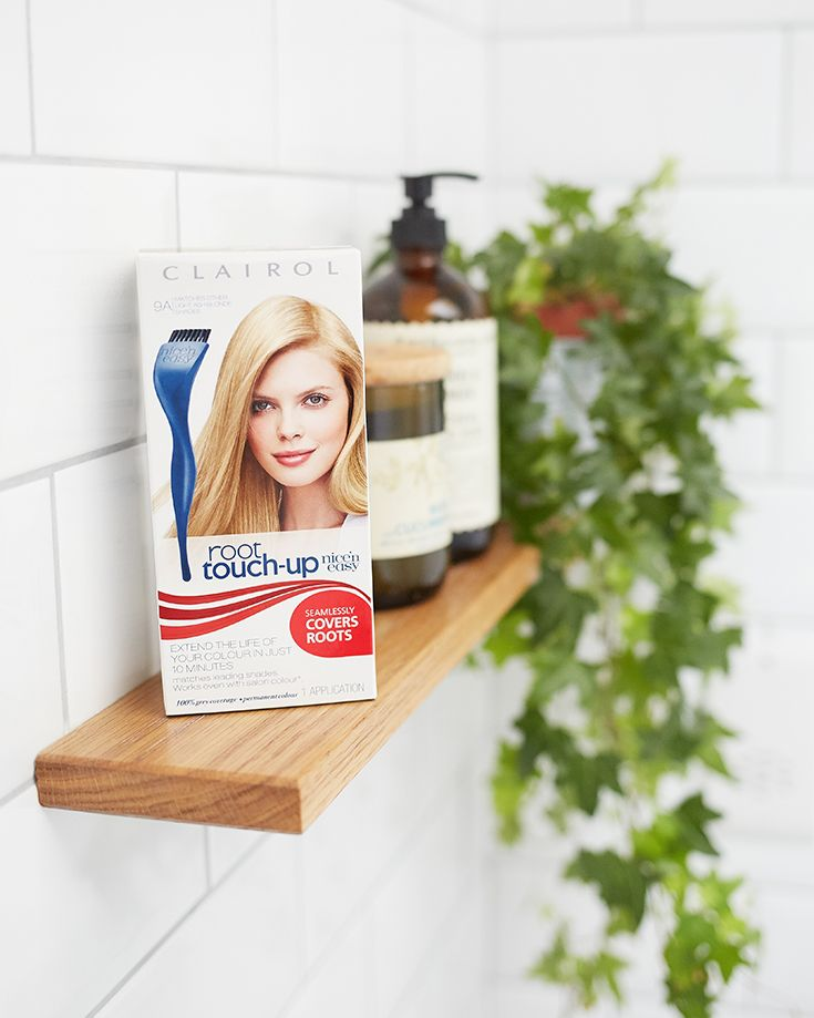 Shelfie goals  Clairol Root Touch Up covers all stray strands, for perfectly matched colour and seamlessly blended roots - all in 10 minutes. No bathroom shelf should be without it.