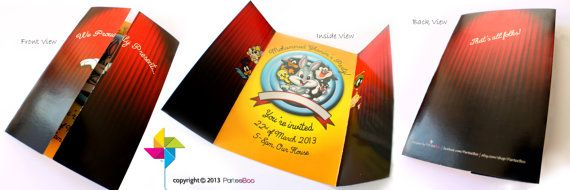 Customized Party Invitation Cards Baby Looney Tunes Theme x 10 pcs by ParteeBoo, $29.99