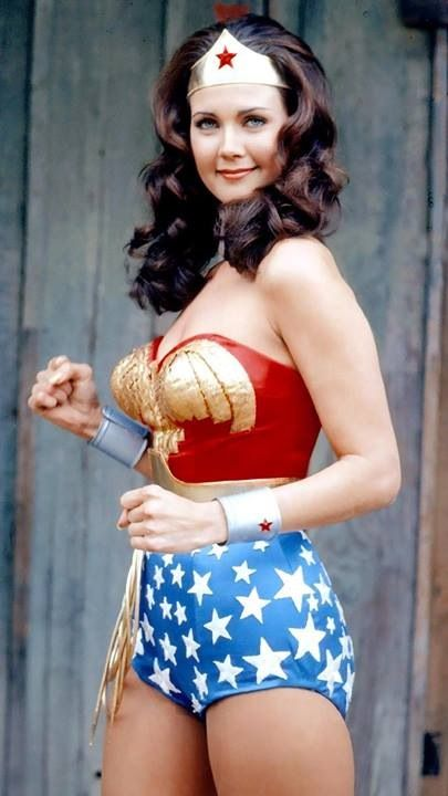 My friends are dressing up as The Justice League for Halloween, and I'm supposed to be Wonder Woman? I'm not sure I have the figure to pull it off. Hahaha