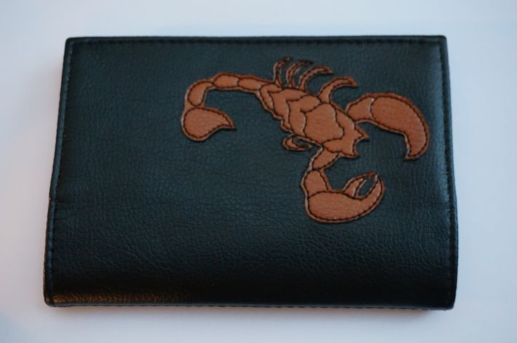 Обложка для паспорта со знаком зодиака Скорпион