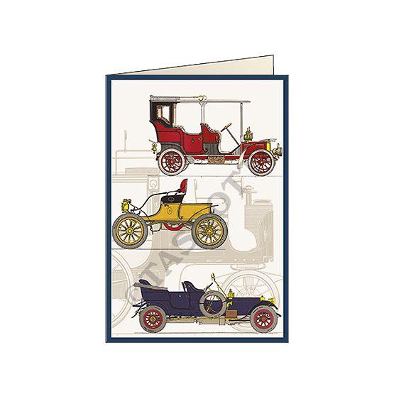 "Biglietto ""Auto d'epoca"" - Card ""vintage cars"" 11,5x16,8 cm"