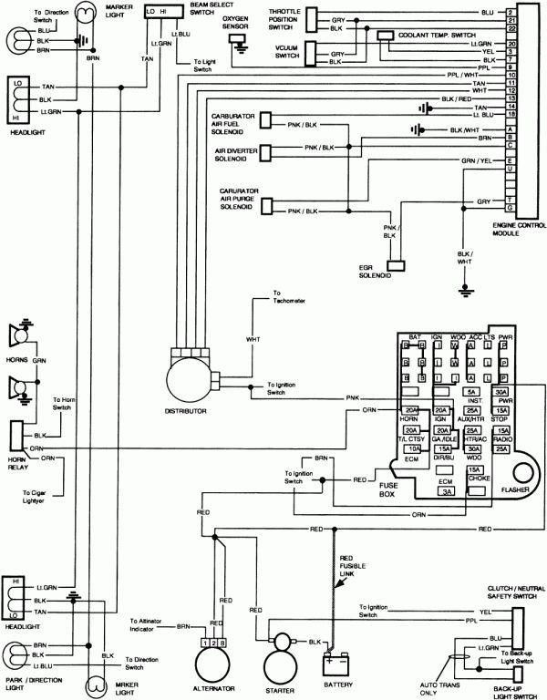 10 1985 chevy c10 truck wiring diagram  1985 chevy truck