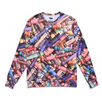 EVC DSGN crayons colorful tweed showroom blouse