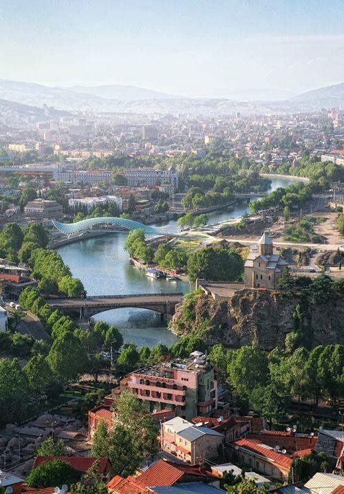Georgia, Tbilisi - Bridge of peace