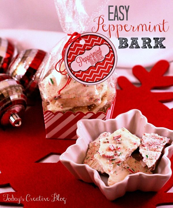 Peppermint Bark Recipe - Gifts from the Kitchen- Today's Creative Blog