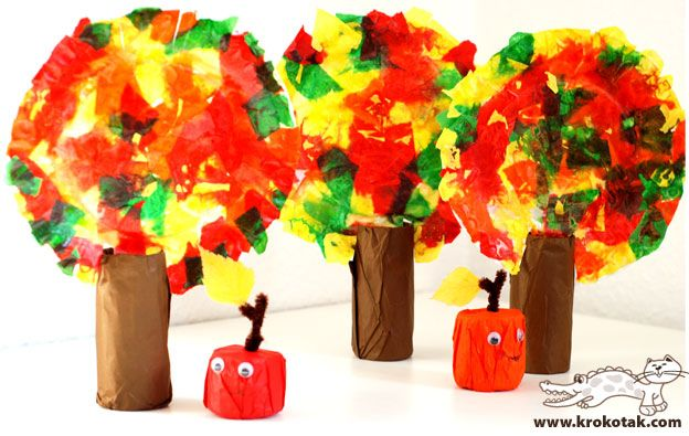 paper fruits, fall kids craft