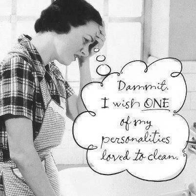 I wish one of my personalities loved to clean funny quotes quote lol funny quote funny quotes humor