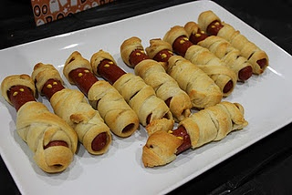 Mummy Dogs. We made these and then watched Ghostbusters. They were a hit