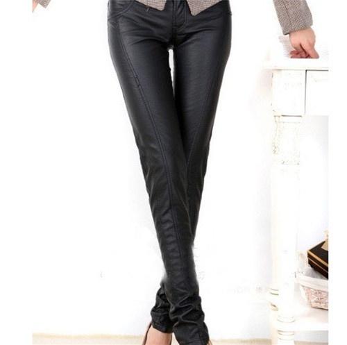 Black Skinny Leather Pants
