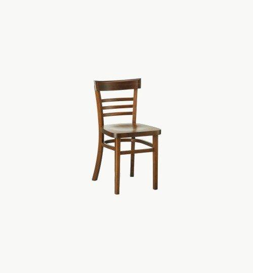 Trästol som går att få med stoppad sits, många tyger att välja på. Ingår i en serie med barstol. Vikt 3,5 kg. Säljs i 2pack (2st). Pris anges (1st). Levereras monterad.  Tyg Lido, 100 % polyester, brandklassad. Tyg Luxury, 100 % polyester, brandklassad. Konstläder Pisa, brandklassad, 88,5% PVC, 11,5% polyester.