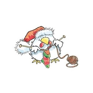 Penny Black Rubber Stamps Christmas Knit Chicken Stamp | eBay