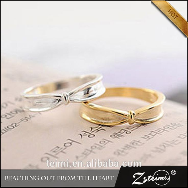 zsteimi South Korean silver plating thick female trendsetter personality bow wholesale simple latest gold ring designs