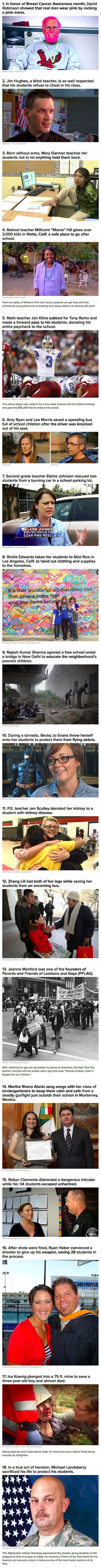 Here are 18 real-life teachers that will restore your faith in humanity.