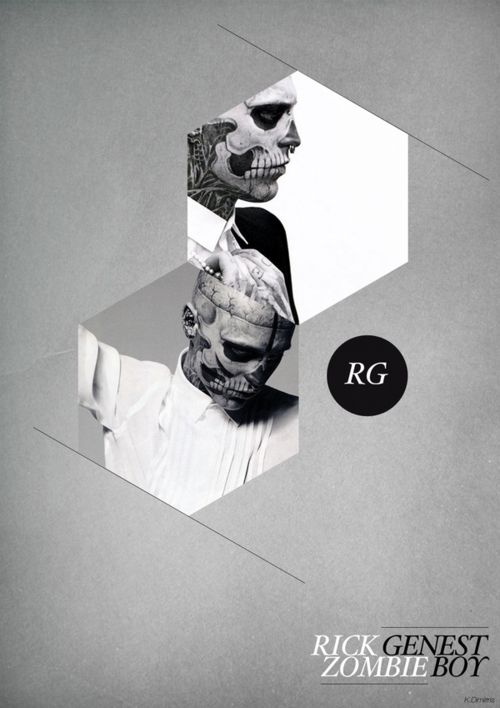 Image Tags, Edgy Design Graphics, Image Sparkly, 34Graphic Design34, Black And White, Posters Design, Rickgenest, Graphics Design, Rick Genest
