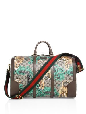 GUCCI Gg Supreme Tian Duffel. #gucci #bags #shoulder bags #hand bags #leather #lining #