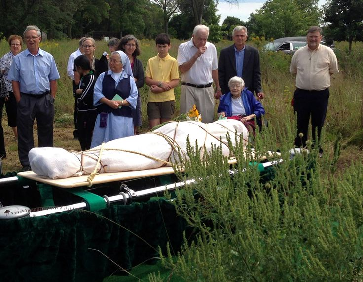 """""""Natural"""" burial: The reason some people select the option is less environmental impact. No toxic embalming chemicals, no vault, no maintenance with riding mowers. Just a body, in a biodegradable container or shroud, in the ground."""