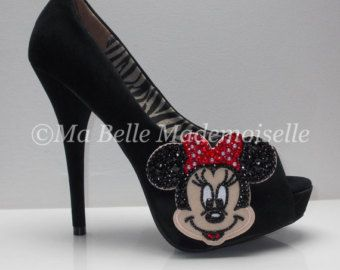 Minnie Mouse Rhinestone Shoes Minnie Mouse by MademoiselleShoes