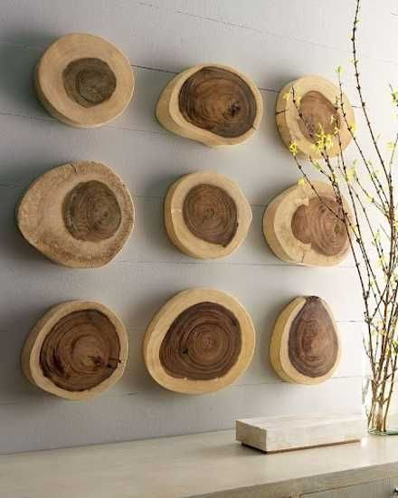 wood pieces used for empty wall decoration