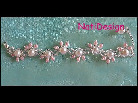PandaHall Video Tutorial on How to Make Flower Bracelet with Pearl Beads and Seed Beads - YouTube