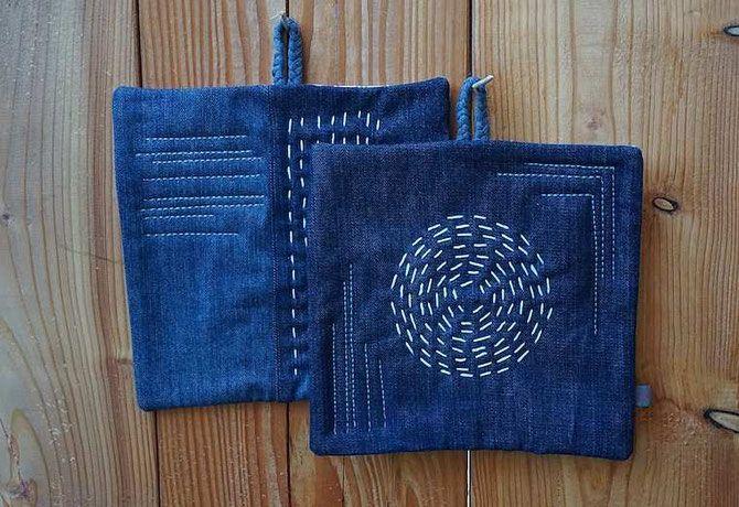 Alte Jeans - neue Topflappen