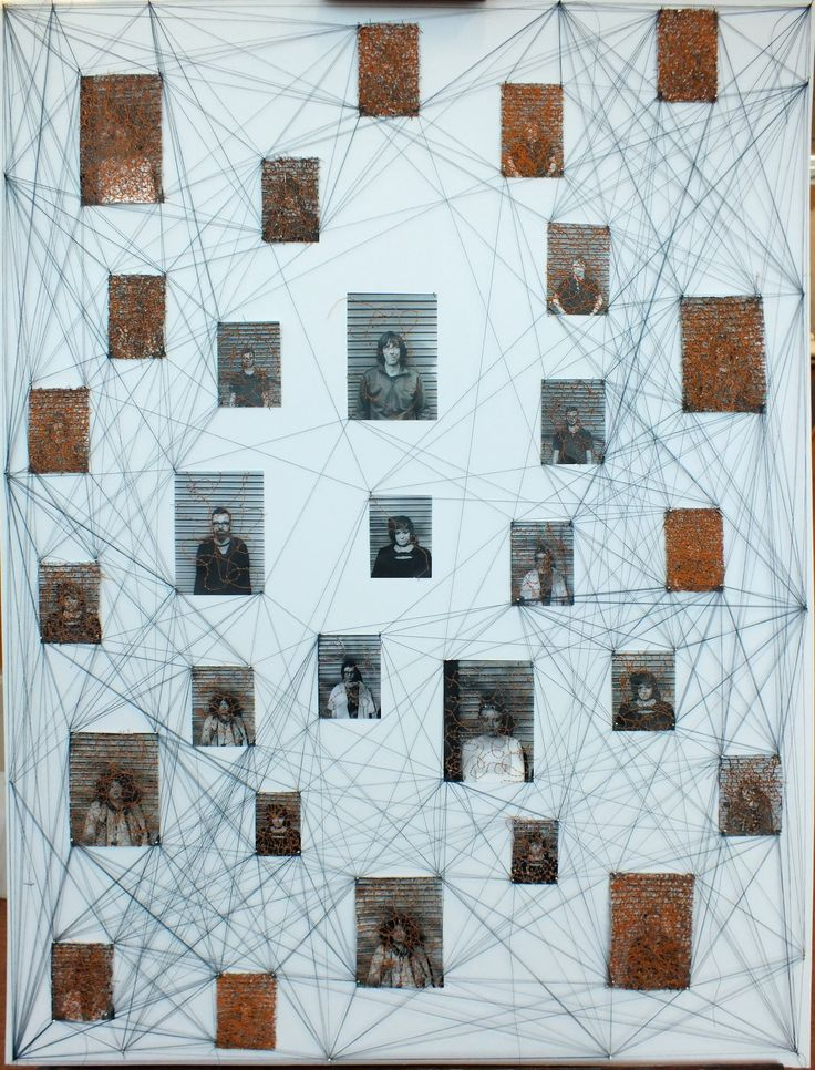 Final outcome. Based upon the connections and thought processes between memories along with the decay and loss of memories.  Mixed media piece inspired by the work of Christian Boltanski and Lisa Kokin.