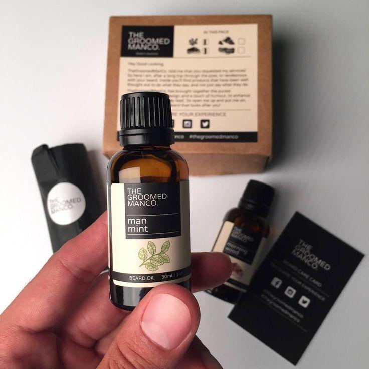 A happy bearded customer with Man Mint Beard Oil & Morning Wood Beard Oil   https://www.thegroomedmanco.com  #beardoil #beard