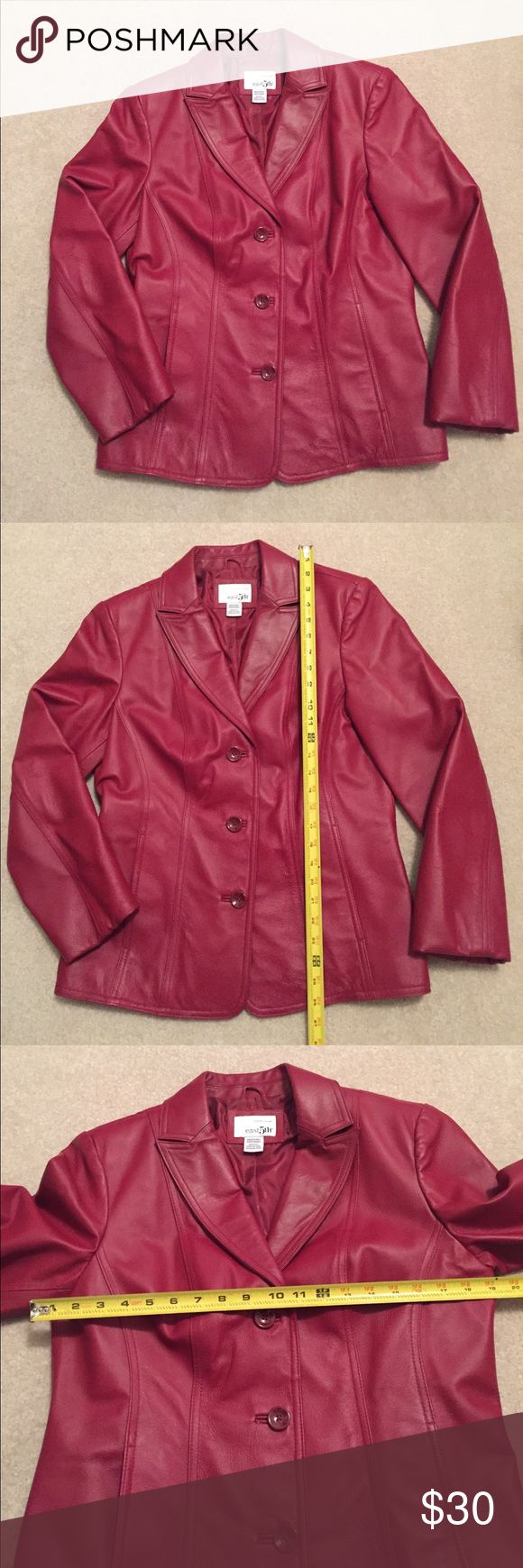 East 5th red leather jacket Red leather jacket, Leather