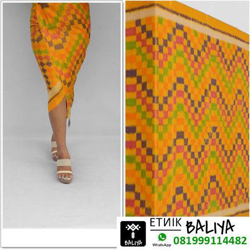 Kamen Endek Bali Terbaru Oranye   Whatsapp/Hp : 081999114482 (XL)