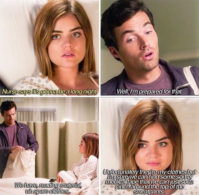 Aria Montgomery and Ezra Fitz